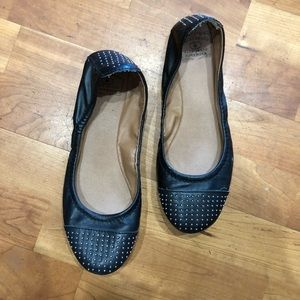 Lucky Brand | Studded Cap Toe Faux Leather Flats